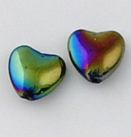 Heart crystal beads